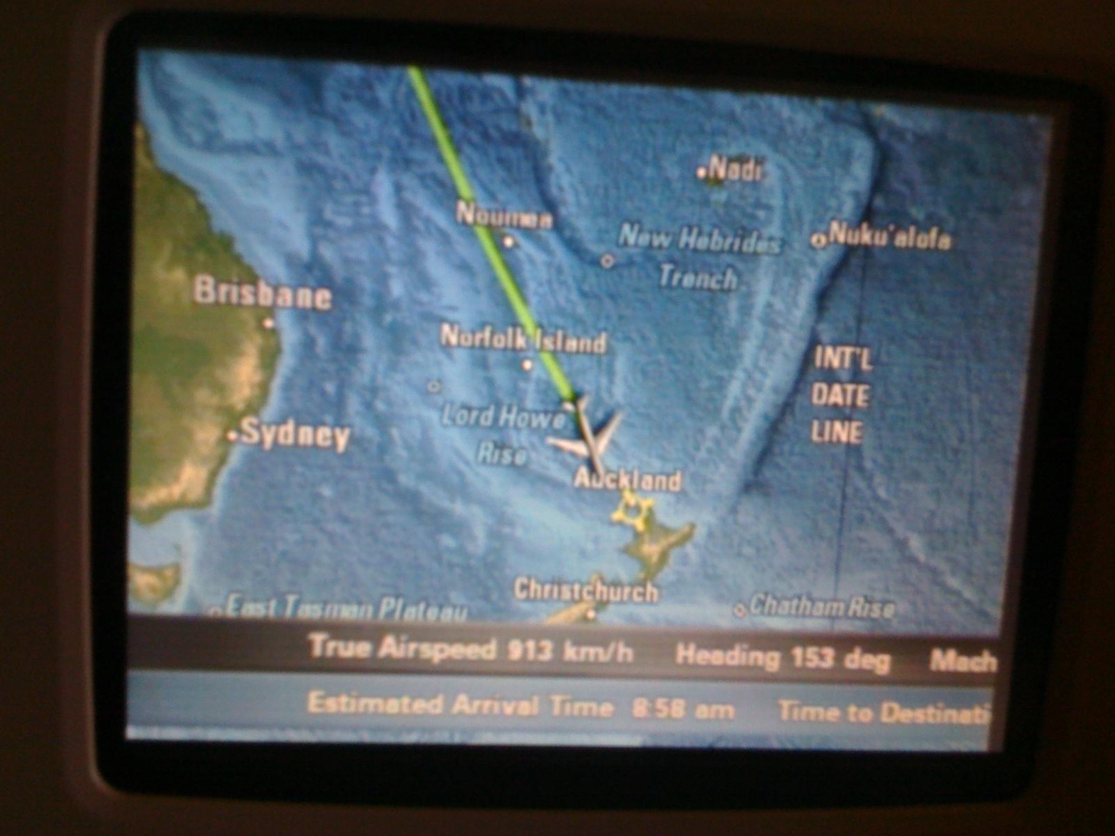Arriving Auckland