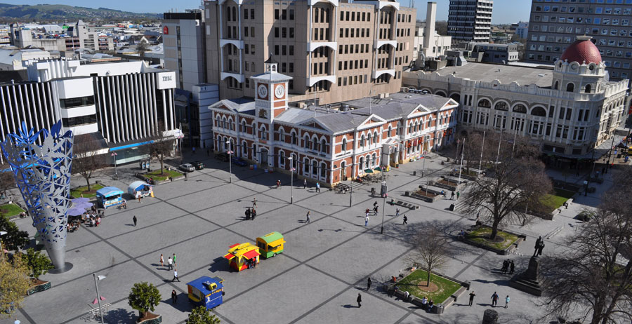Christchurch Cathedral Square Top View